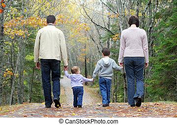 vandrande, familj