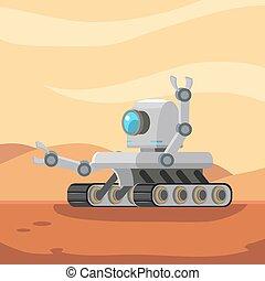 vandrare, robot, mars