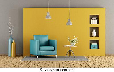 vardagsrum, färgrik
