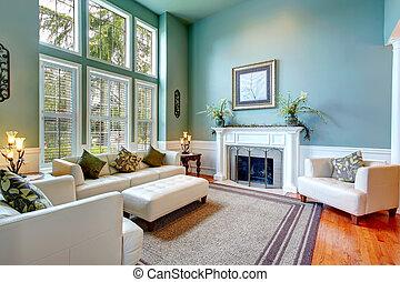 vardagsrum, hus, elegant, lyxvara, interior.