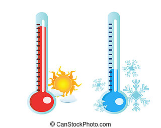 varm, kall, temperatur, termometer