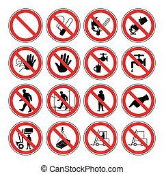 varning, hälsa, säkerhet, hasard, &