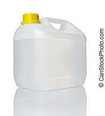 vatten, gallon, behållare, nolla, vit