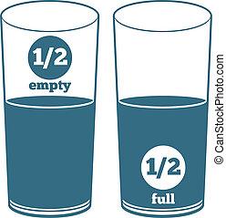 vatten, två, glasögon