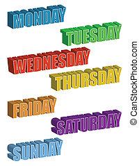 vecka, dagar
