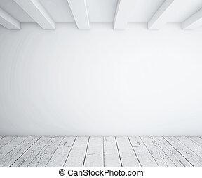 ved, loft, golv