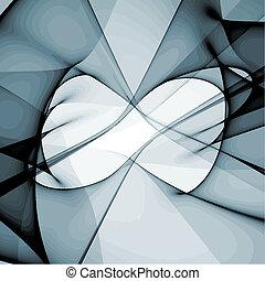 vektor, abstrakt nymodig formge