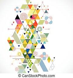 vektor, färgrik, abstrakt, illustration, skapande, bakgrund, geometrisk