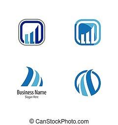 vektor, ikon, abstrakt, logo, mall