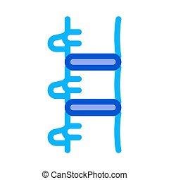 vektor, ikon, illustration, mänsklig, skissera, rygg