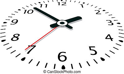 vektor, klocka