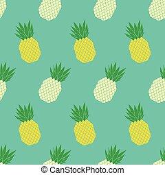 vektor, mönster, ananas, seamless, färgrik