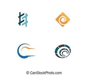 vektor, mall, logo, abstrakt, illustration, ikon
