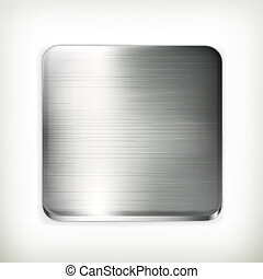 vektor, metall tallrik