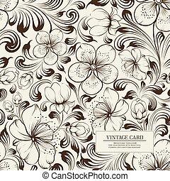 vektor, sakura, illustration.