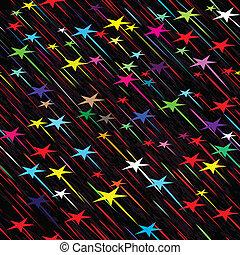 vektor, seamless, regna, väder, illustration, bakgrund