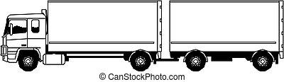 vektor, semi-truck
