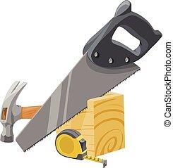 vektor, tools., carpentry