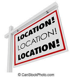 verkligt gods, område, önskvärd, fläck, underteckna, plats, lokalisering, hem, bäst