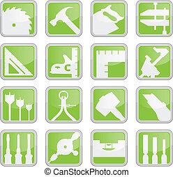 verktyg, carpentry, ikonen