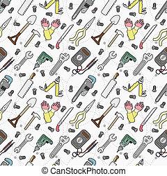 verktyg, mönster, seamless