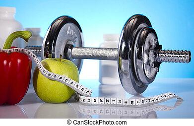 vikt, fitness, förlust