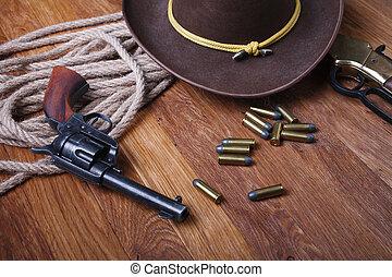 vild, ammunition, väst, gevär