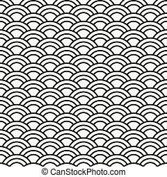 vinka mönstrar, seamless, bakgrund, abstrakt, pattern-japanese