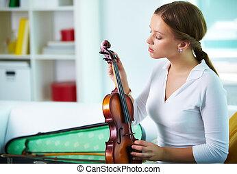 violin, stämmande