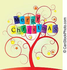 virvla runt, träd, jul