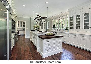 vit, cabinetry, kök