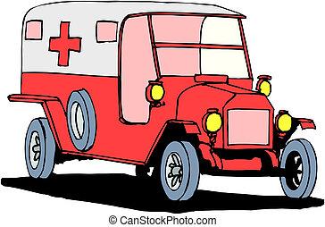 vit fond, ambulans