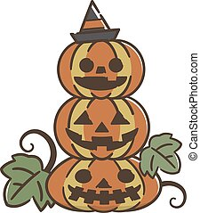 vit, halloween, isolerat, bakgrund, pumpa