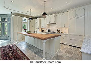 vit, lyxvara, cabinetry, kök