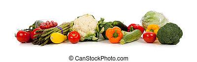 vit, rad, grönsaken