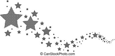 vit, svart, stjärnor