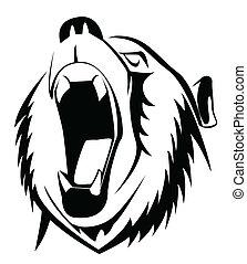 vråla, björn