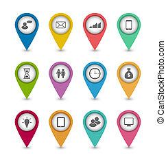 websajt, sätta, layout, affärsverksamhet ikon, design, infographics