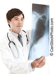 xray, ung läkare