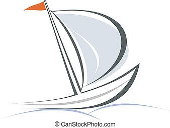 yacht, segelbåt