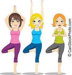 yoga, kvinnor