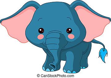 zoo., nöje, elefant